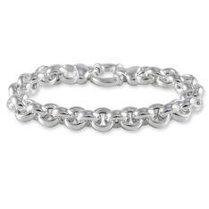 Bracelet Argent Rhodie Maille Jaseron