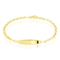 Bracelet Identite Bebe Or Jaune Marcel - Gourmettes Enfant | Marc Orian