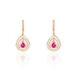 Boucles D'Oreilles Louisa Or Rose