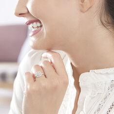 Bague Or Blanc Alixia Diamant