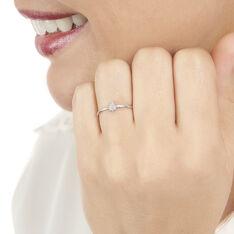 Bague Or Blanc Adhira Goutte Diamants
