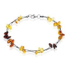 Bracelet Argent Ambres Multicolores