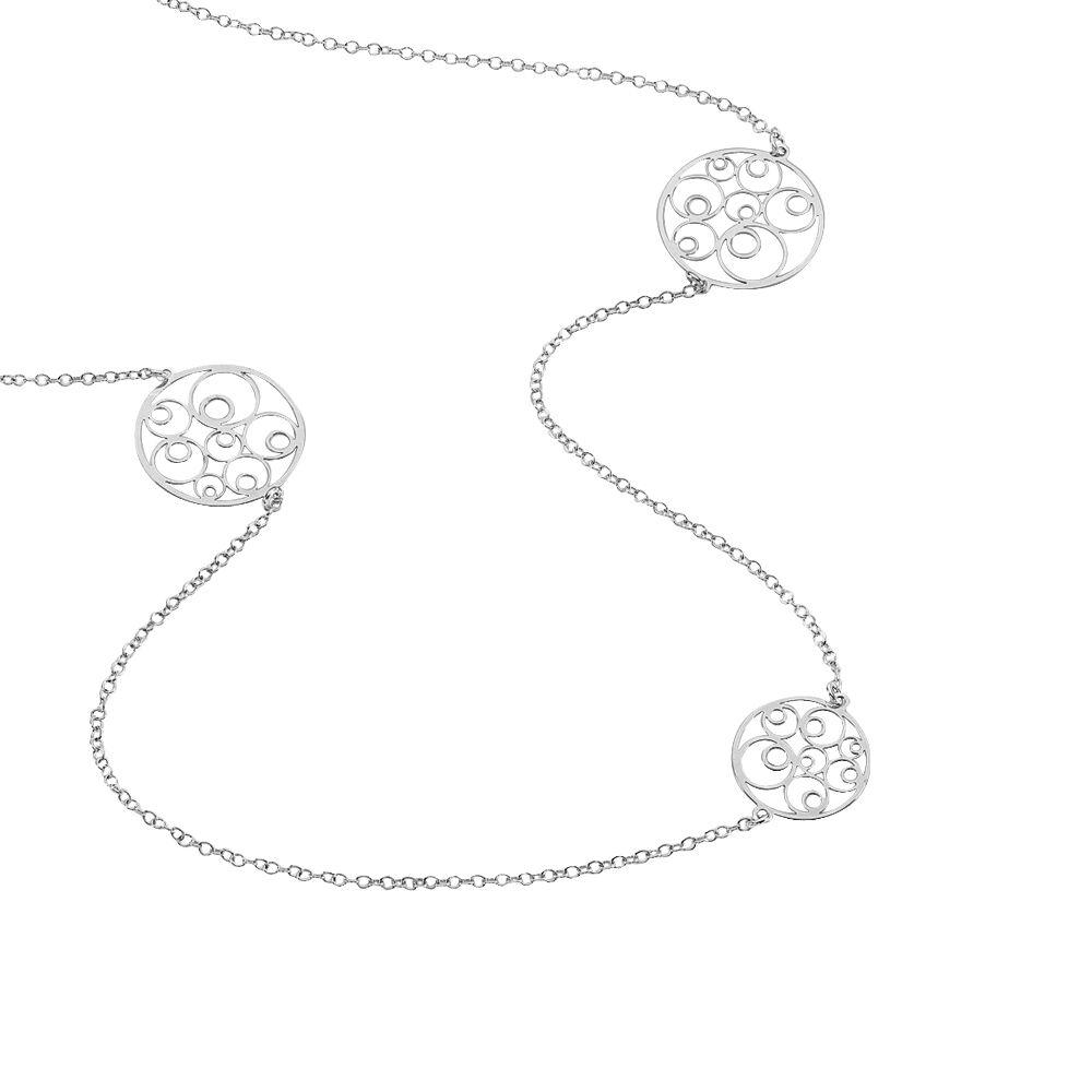 collier sautoir femme argent
