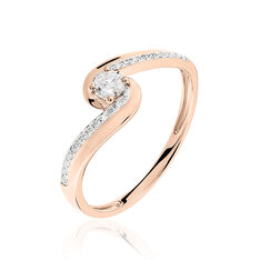 Bague Solitaire Melina Or Rose Diamant