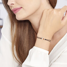 Bracelet Argent Coeur Cordon