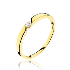 Bague Solitaire Anilie Or Jaune Diamant