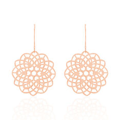 Boucles D'Oreilles Argent Rose Mina - Boucles d'oreilles Pendantes Femme | Marc Orian