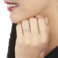 Bague Or Blanc Ajoures Diamants