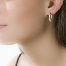 Boucles D'Oreilles Creoles Diamante