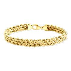 Bracelet Or Jaune Maille Corde - Bracelets mailles Femme | Marc Orian