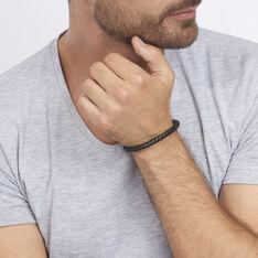 Bracelet Cuir Tresse Fermoir Acier - Bracelets chaînes Homme | Marc Orian