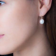 Boucles D'Oreilles Or Perle De Culture