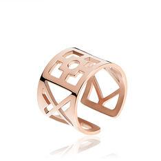 Bague Arielle Acier Rose Geometrique