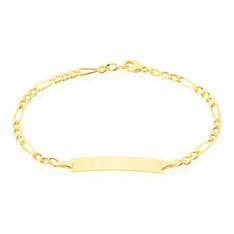Bracelet Identite Bebe Or Jaune Evona