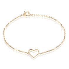 Bracelet Plaque Or Saona Coeur