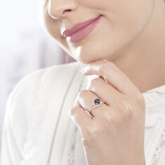 Bague Or Rose Jannha Topaze Centrale