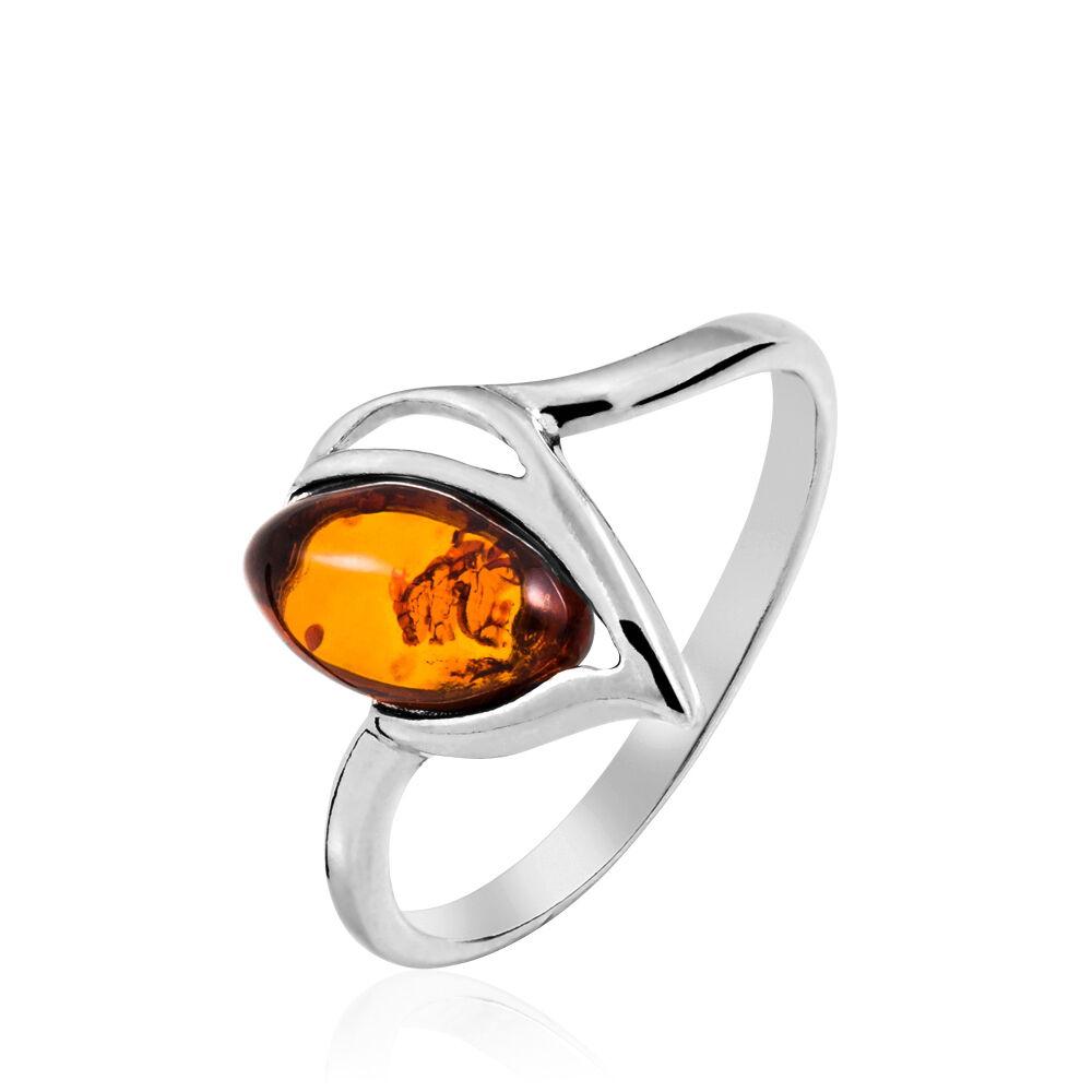 bague or avec pierre ambre