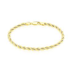 Bracelet Or Bicolore Maille Corde Et Venitienne - Bracelets mailles Femme | Marc Orian