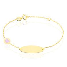 Bracelet Identite Bebe Leslie Or Jaune