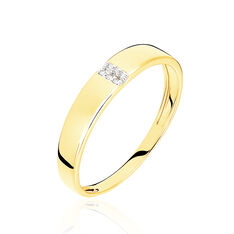 Bague Soha Or Jaune Et Diamants