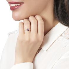 Bague Anaelle Or Rose Amethyste Diamants