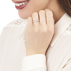 Bague Mila Or Blanc Oxydes