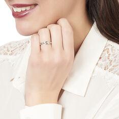 Bague Galya Or Blanc Trilogie Et Diamant