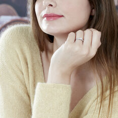 Solitaire Alexandra Or Blanc Diamant