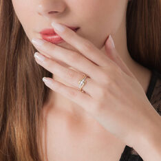 Bague Mayline Or Bicolore Diamant
