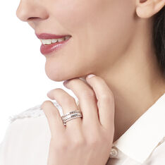 Bague Argent Rhodie Analie Triangle Oxyde