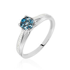 Bague Or Blanc Kate Topaze Oxydes