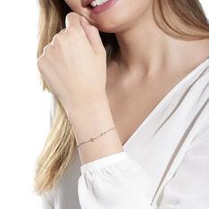 Bracelet Argent Rose Esia Fleur Oxyde