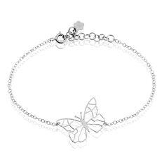 Bracelet Geltrude Argent Rhodie Papillon - Bracelets chaînes Femme | Marc Orian