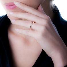 Bague Ilvia Or Rose Noeud Diamants