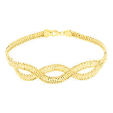 Bracelet Or Jaune Cecilia Maille Corde - Bracelets mailles Femme | Marc Orian