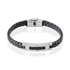 Bracelet Bastien Acier Et Cuir