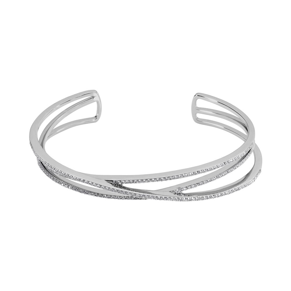 bracelet femme argent zirconium
