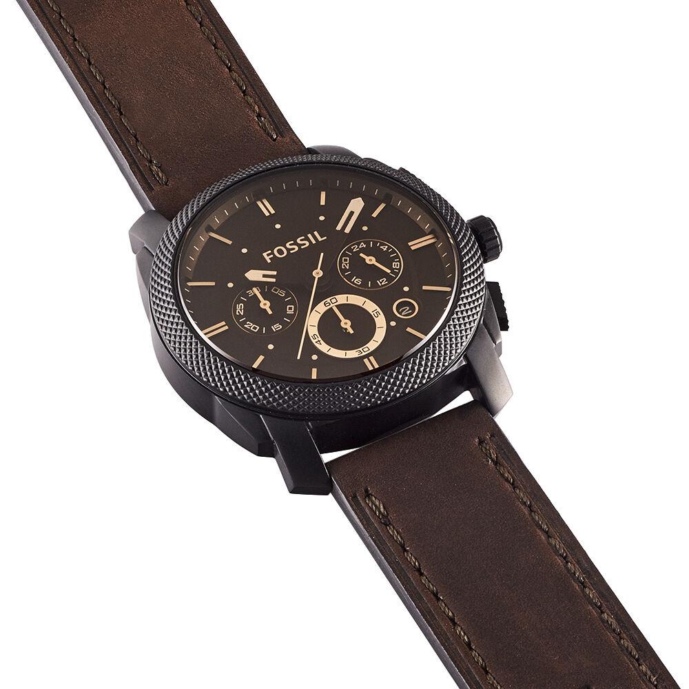 bracelet cuir montre fossil