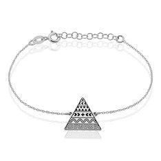 Bracelet Argent Rhodie Mexik