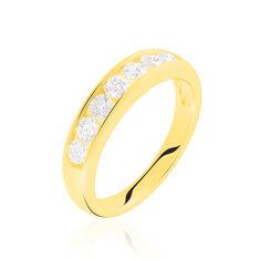 Demi-Alliance Or Jaune Giulia Diamants