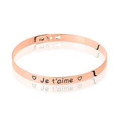 Bracelet Jonc Leana Imagine Argent Rose