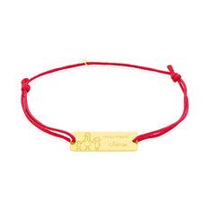 Bracelet Or Jaune Famille Pastille