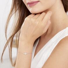 Bracelet Argent Croix Oxyde