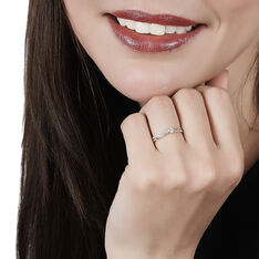Solitaire Or Blanc Diamant