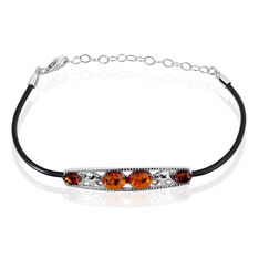 Bracelet Argent Thais Ambres