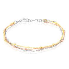 Bracelet Argent Clorinthe Triple Chaine
