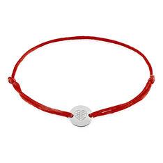 Bracelet Or Blanc Disque Coeur Diamant