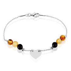 Bracelet Tatiana Argent Rhodie Ambre