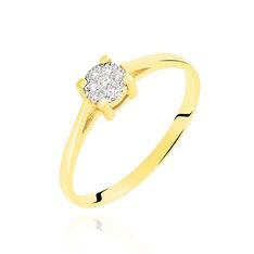 Bague Or Jaune Et Diamants 0.035ct