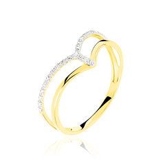 Bague Samanta Or Jaune Et Diamants